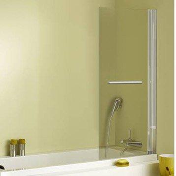 Pare-baignoire 1 volet verre de sécurité 5 mm transparent, Keo