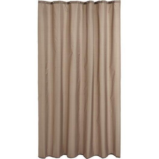 rideau de douche en tissu happy sensea brun taupe n 3 180 x 200 cm leroy merlin. Black Bedroom Furniture Sets. Home Design Ideas