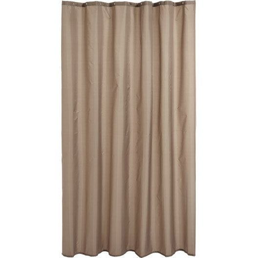 rideau de douche en textile brun taupe n 3 x cm happy sensea leroy merlin. Black Bedroom Furniture Sets. Home Design Ideas