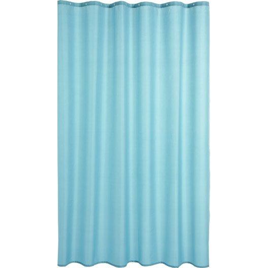 rideau de douche en textile bleu atoll n 4 x cm happy sensea leroy merlin. Black Bedroom Furniture Sets. Home Design Ideas