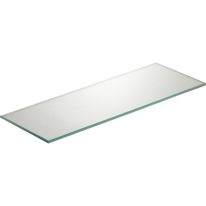 Etagère murale verre transparent, L.40 x P.15 cm Ep.6 mm   Leroy ...
