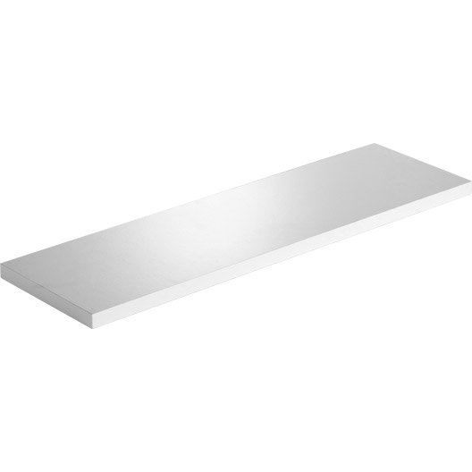 etag re murale blanc blanc n 0 spaceo l 60 x p 18 cm mm leroy merlin. Black Bedroom Furniture Sets. Home Design Ideas