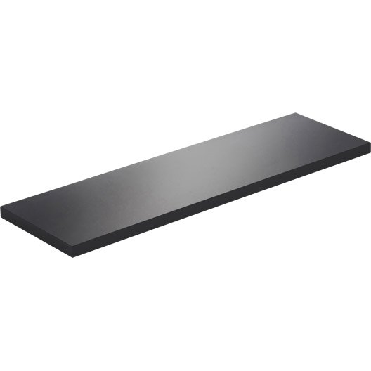 Etag re murale noir noir n 0 spaceo l 60 x p 18 cm - Etagere murale noir laque ...