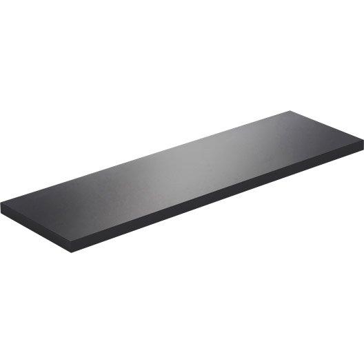 Etagu00e8re Murale Noir Super Brillant Glossy SPACEO L 60 X P 18 Cm U00e9p. 18 Mm | Leroy Merlin