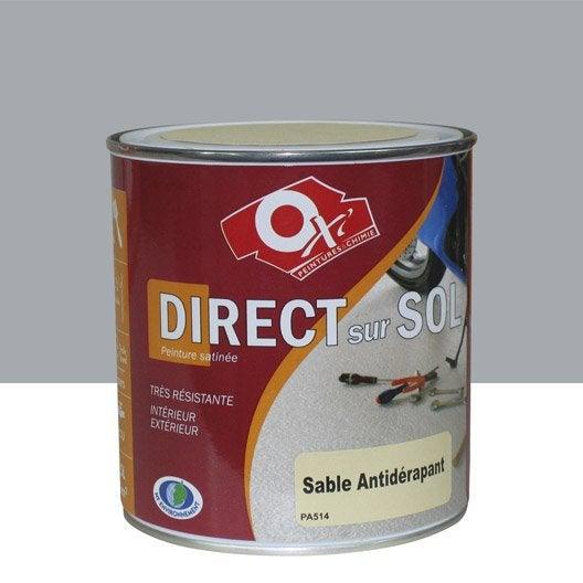 Peinture sol ext rieur int rieur antid rapante oxytol gris 0 5 l leroy merlin for Peinture beton garage