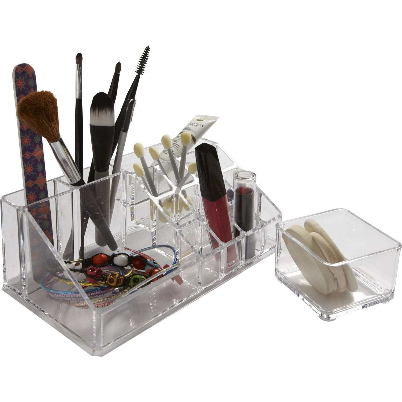 Organiseur en plastique transparent, Beauty | Leroy Merlin