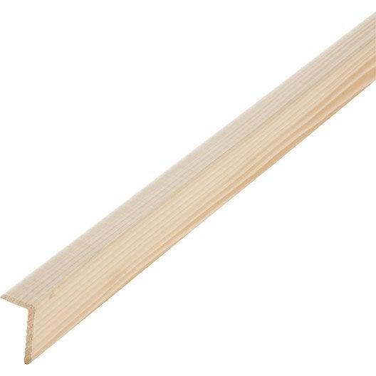 Baguette d 39 angle sapin sans noeud 28 x 47 mm l 2 5 m - Baguette d angle bois ...