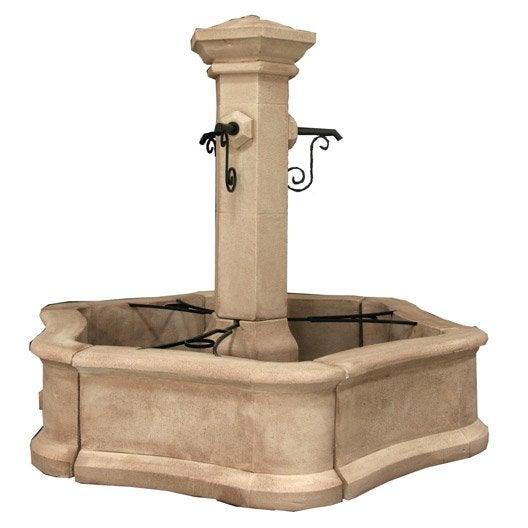 Fontaine en pierre reconstitu e pierre vieillie village gm - Bassin fontaine leroy merlin aixen provence ...