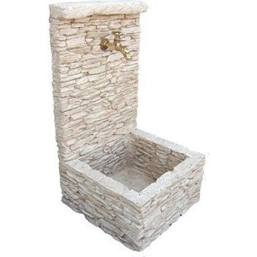 Fontaine en pierre reconstitu e atelier de veze stria for Fontaine de jardin leroy merlin