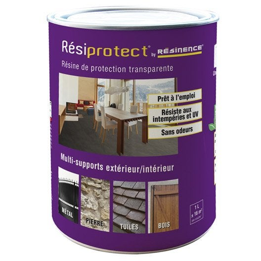 R sine tanch it r siprotect resinence transparent 1l - Produit etancheite mur exterieur ...