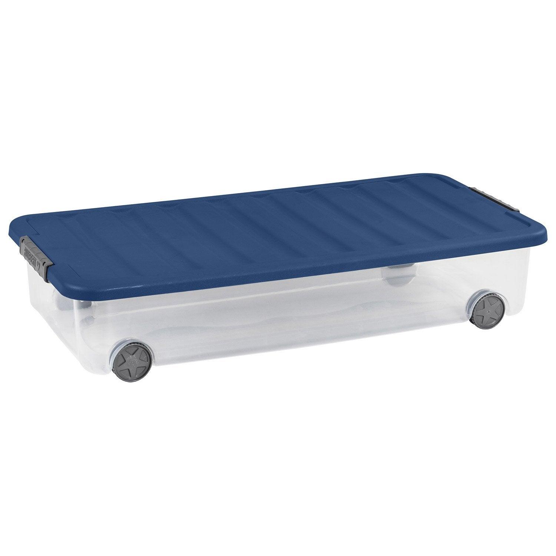 dessous de lit monter scotti plastique l39 x p79 x h16 cm leroy merlin - Rangement Sous Lit