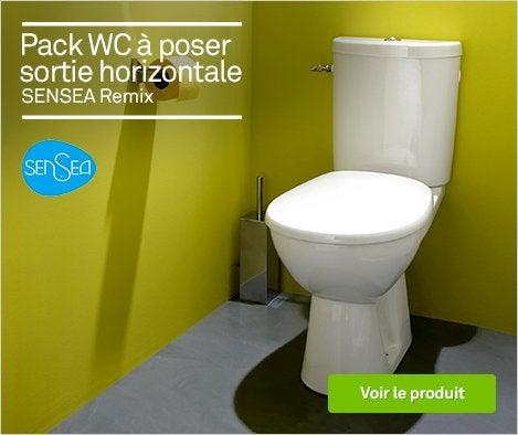 Wc abattant et lave mains toilette leroy merlin Wc a poser sortie horizontale