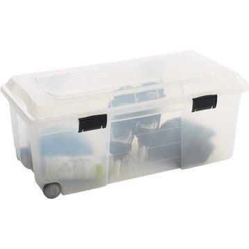 Coffre Camper plastique , l.80 x P.34 x H.40 cm