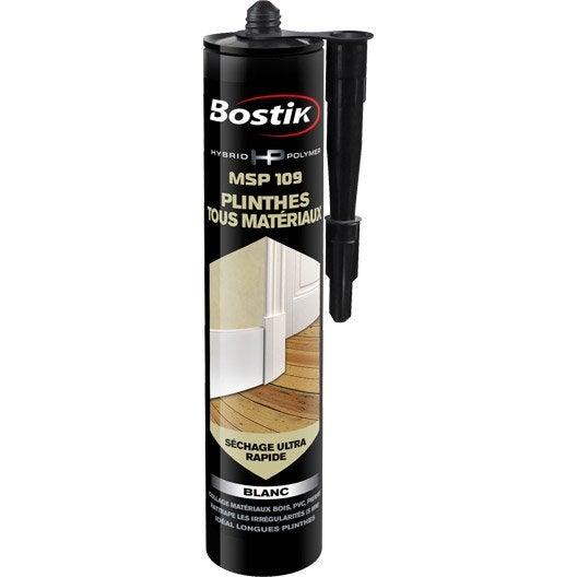 Colle mastic hybrid polymer msp 109 bostik 290ml leroy for Mastic bois exterieur