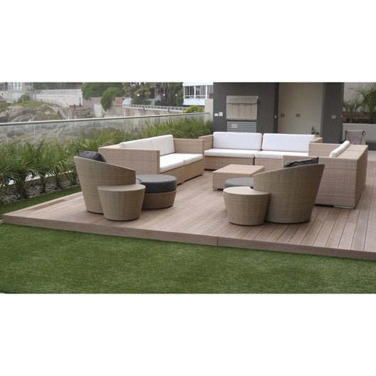 planche cosse de riz et pvc resysta naturel x cm x mm leroy merlin. Black Bedroom Furniture Sets. Home Design Ideas