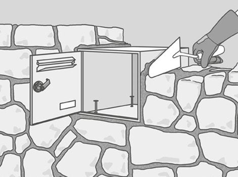 comment encastrer une bo te aux lettres dans une. Black Bedroom Furniture Sets. Home Design Ideas