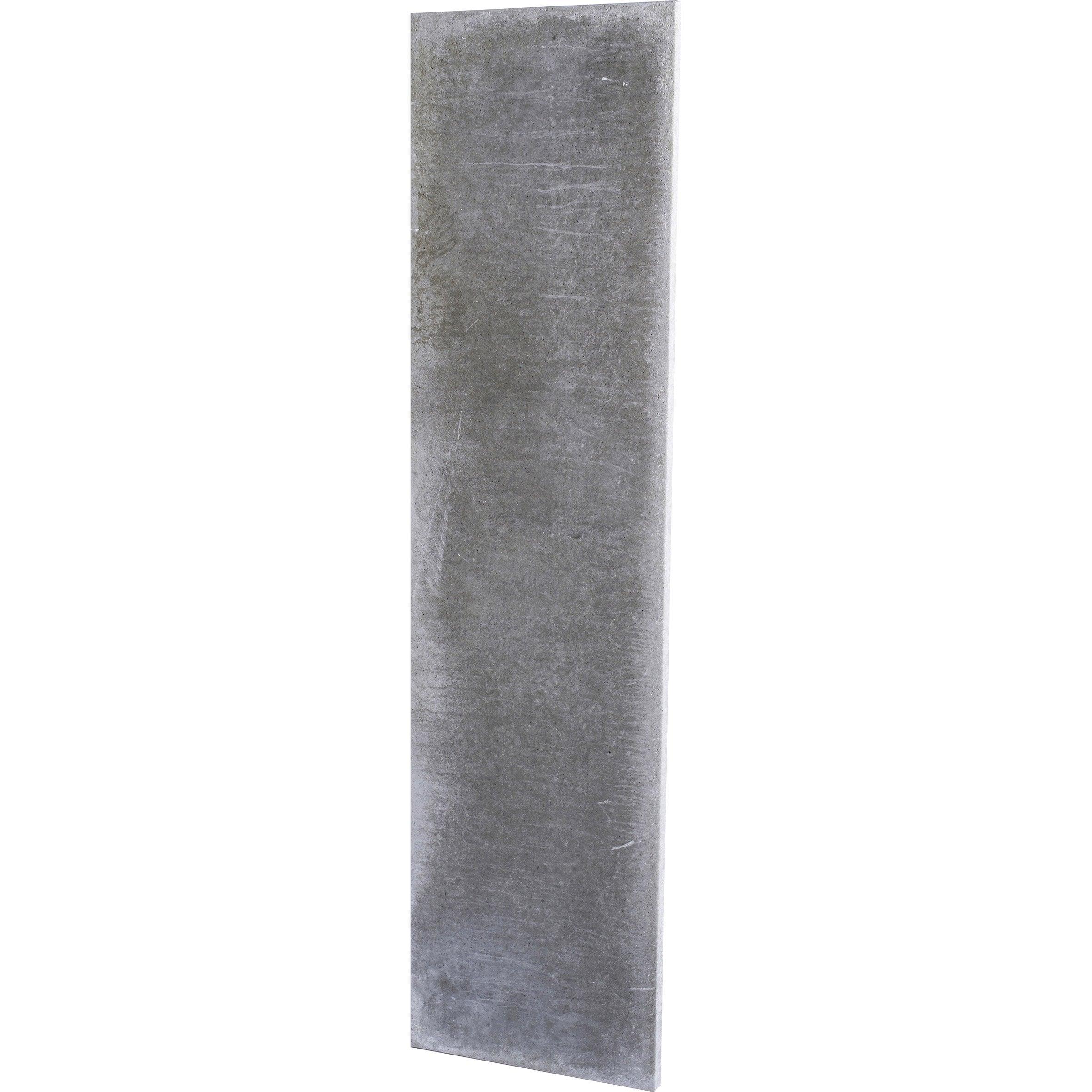 Plaque En Béton Pleine Pour Clôture Droite L192 X H50 Cm X Ep37 Mm