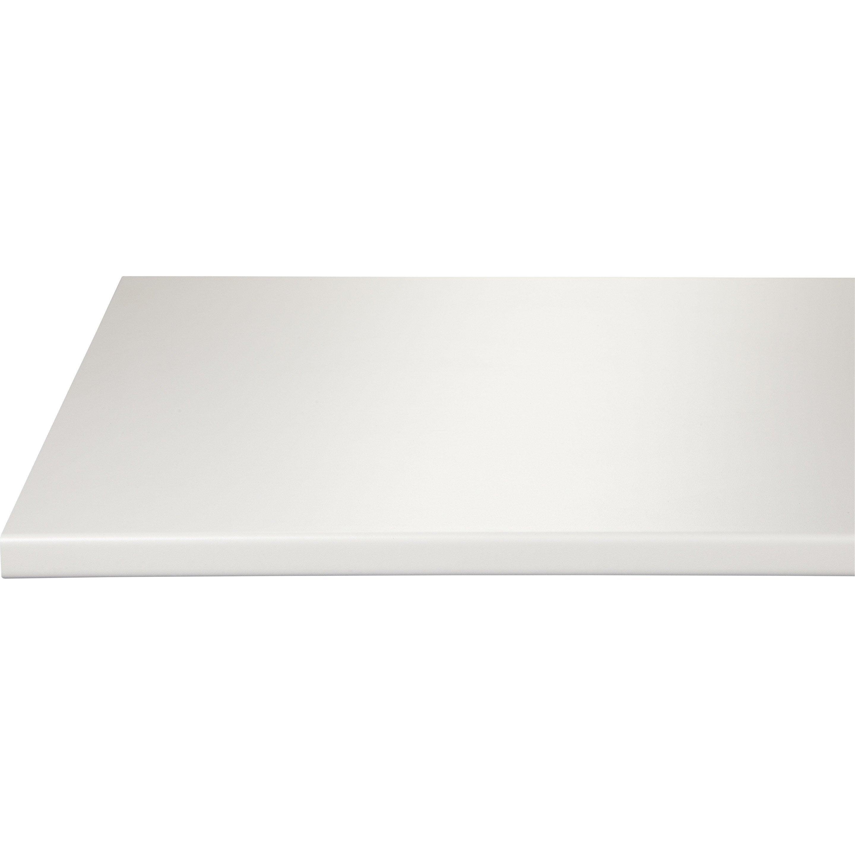 Plan de travail stratifié Blanc Mat L.180 x P.60 cm, Ep.28 mm