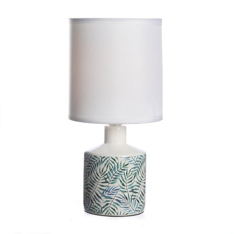 Lampe De Chevet Céramique Motif Feuilles Lussiol Gisèle