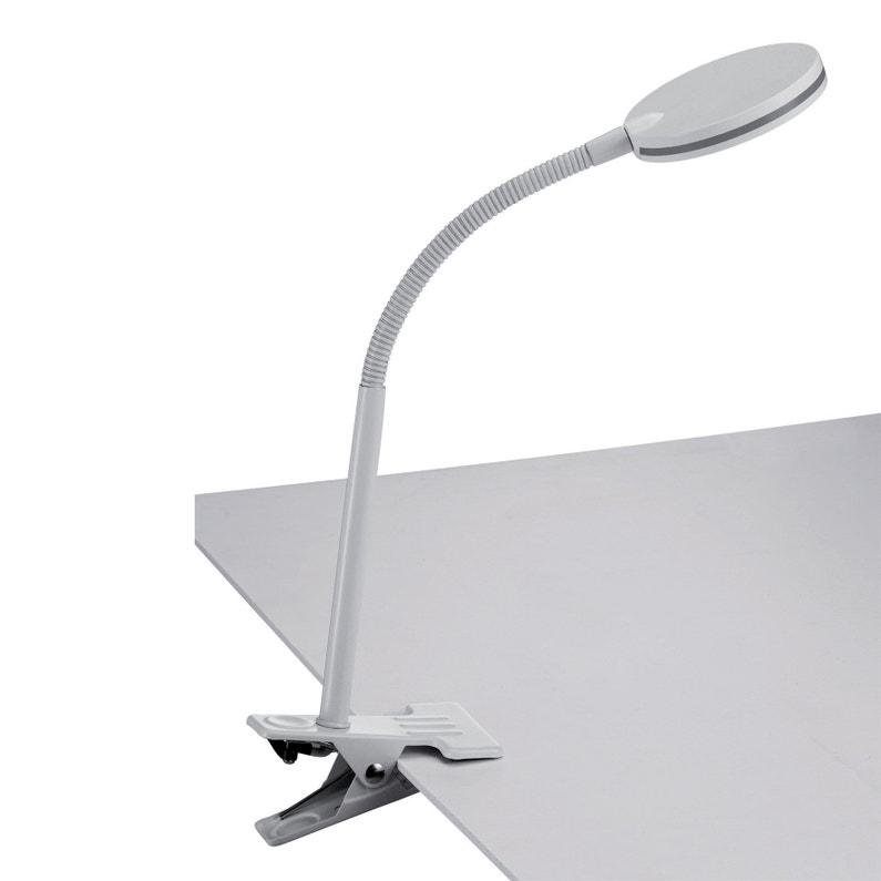 Lampe De Bureau à Pince Design Métal Blanc Seynave Yona