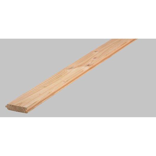 lame à volet douglas petits noeuds raboté, 96x27 mm, long 250cm