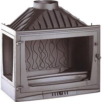 Foyer à bois façade droite INVICTA 6769-01 14 kW