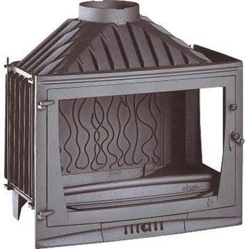 Foyer à bois façade droite INVICTA 6769-02 14 kW