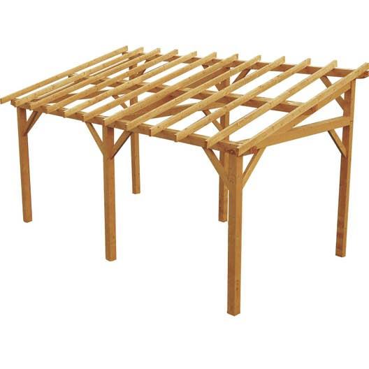 carport bois vanoise 1 voiture m leroy merlin. Black Bedroom Furniture Sets. Home Design Ideas