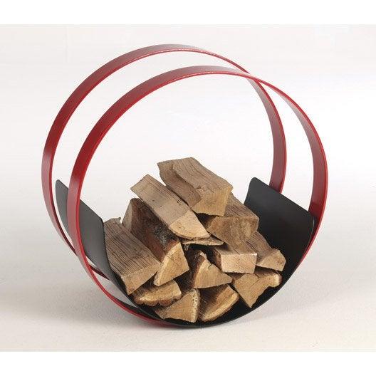 rangement pour bois en acier atelier dix neuf roll rouge noir leroy merlin. Black Bedroom Furniture Sets. Home Design Ideas