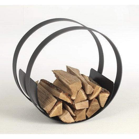 Rangement pour bois acier gris et noir atelier dix neuf roll cm leroy - Rangement bois de chauffage exterieur ...