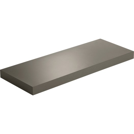Etag re murale brun taupe n 3 spaceo x cm mm leroy merlin - Etagere fixation invisible leroy merlin ...