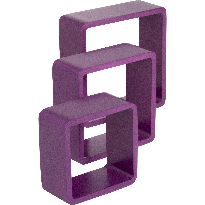 etag re 3 cubes violet tulipe n 3 spaceo x cm mm leroy merlin. Black Bedroom Furniture Sets. Home Design Ideas