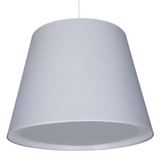 suspension e27 design xxl espace coton blanc 2 x 100 w corep leroy merlin. Black Bedroom Furniture Sets. Home Design Ideas