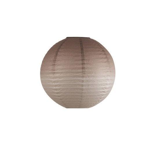 suspension sans cordon design kobai papier taupe inspire leroy merlin. Black Bedroom Furniture Sets. Home Design Ideas