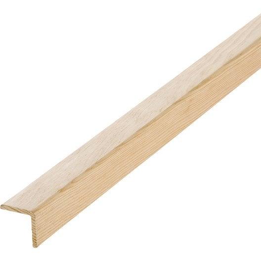 Baguette d 39 angle pin sans noeud 46 x 46 mm l 2 4 m - Baguette d angle bois ...