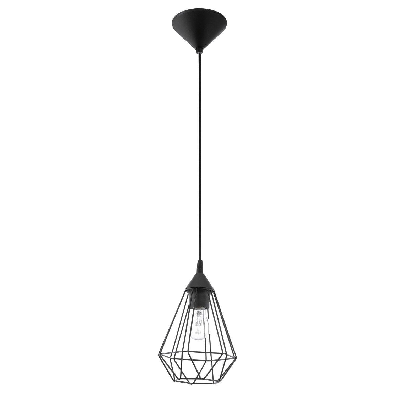 Suspension e27 style industriel tarbes m tal noir 1 x 60 - Suspension filaire noire ...