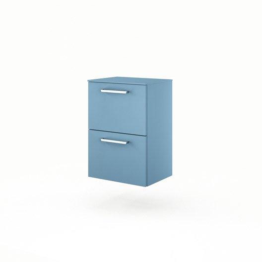 meuble bas x x cm bleu neo line leroy merlin. Black Bedroom Furniture Sets. Home Design Ideas
