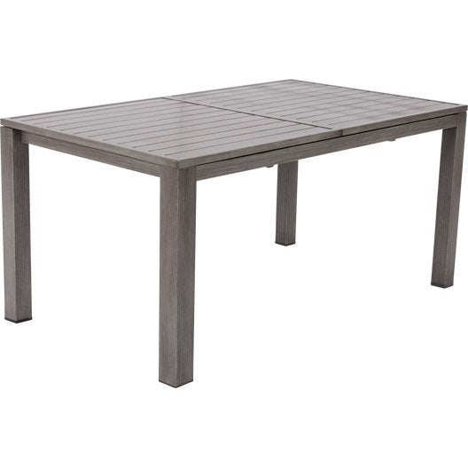 Table de jardin aluminium bois r sine au meilleur prix for Table extensible exterieur pas cher