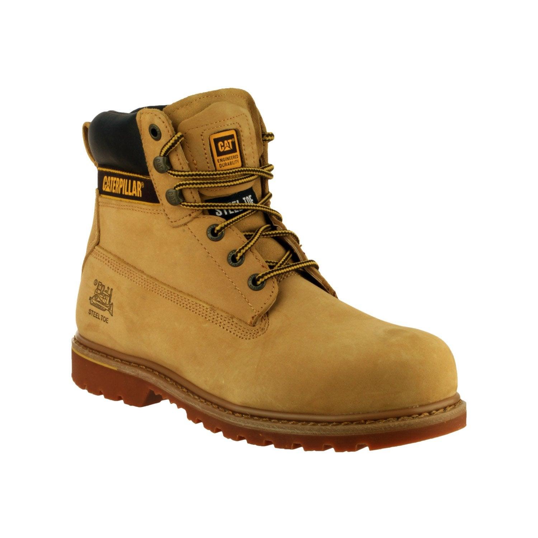 Chaussures Hautes De Caterpillar Sécurité Coloris T45 Beige Holton rgrwCExRq
