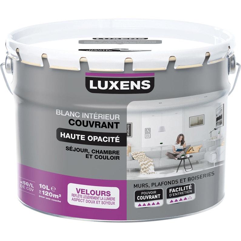 Peinture Blanc Mur Plafond Et Boiserie Couvrant Luxens Velours