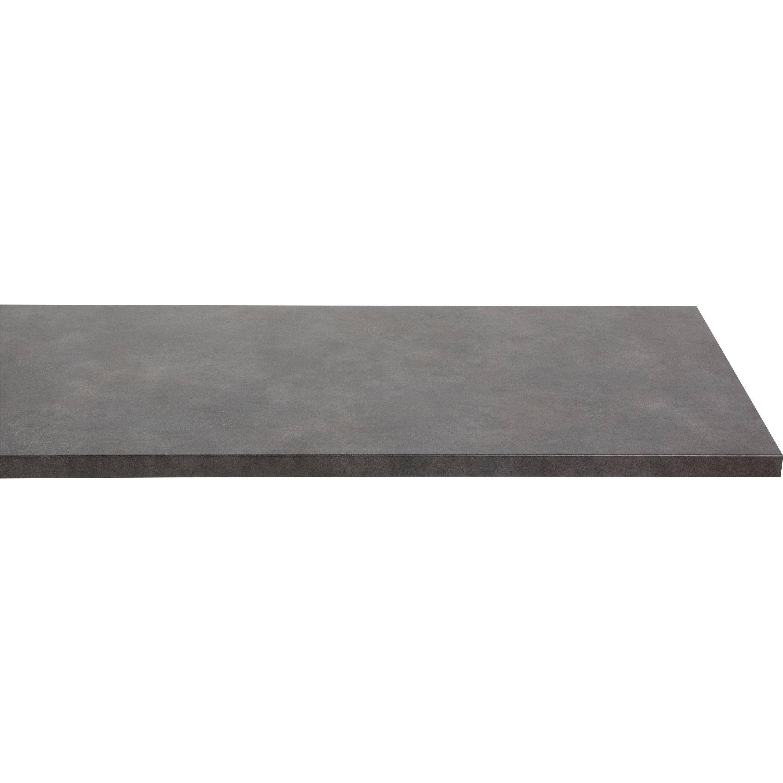 Plan de travail stratifié Effet métal vieilli Mat L.300 x P.65 cm, Ep.38 mm