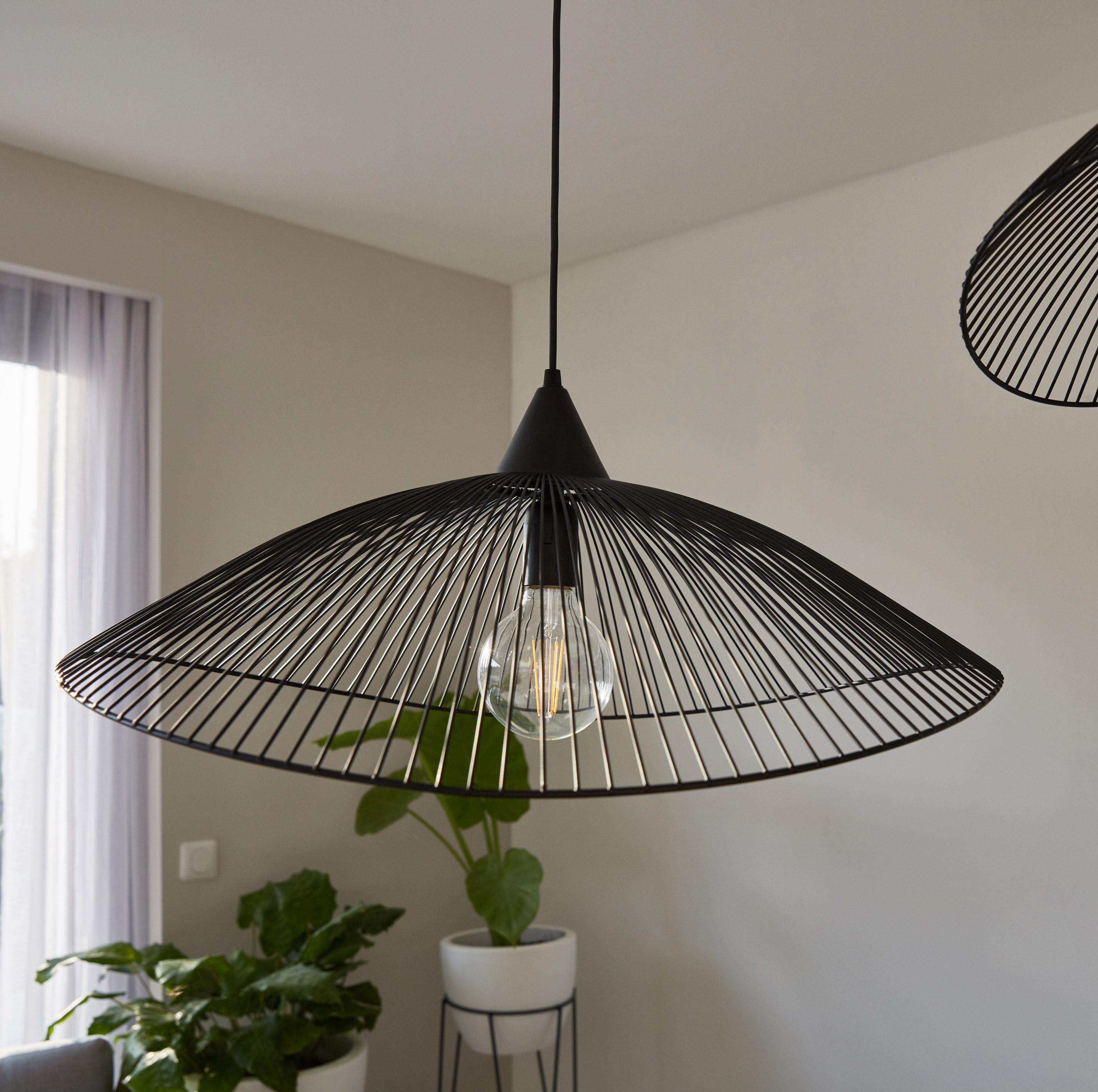 Suspension, design métal noir SEYNAVE Kasteli 1 lumière(s) D.65 cm