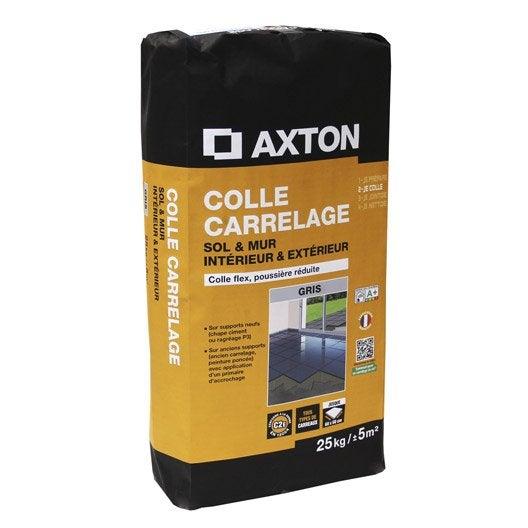 Mortier colle pour carrelage mur et sol 25 kg gris for Colle carrelage douche