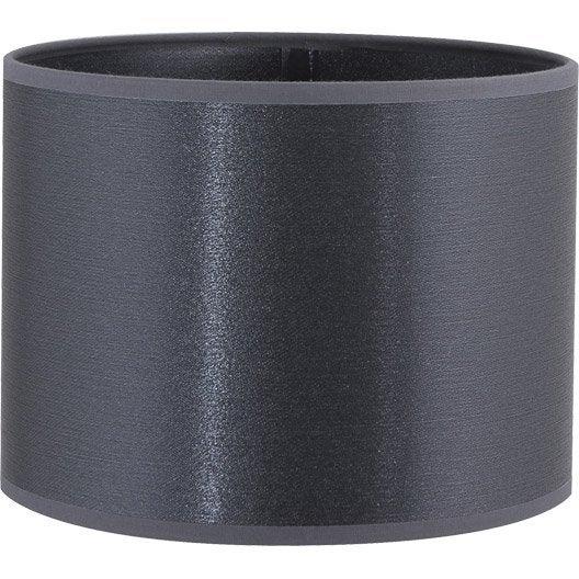 abat jour tube 20 cm polyamide gris leroy merlin. Black Bedroom Furniture Sets. Home Design Ideas