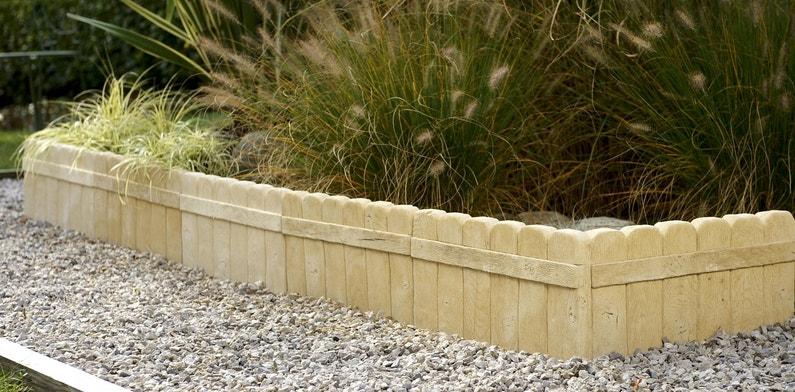 Bordure de jardin béton imitation bois | Leroy Merlin