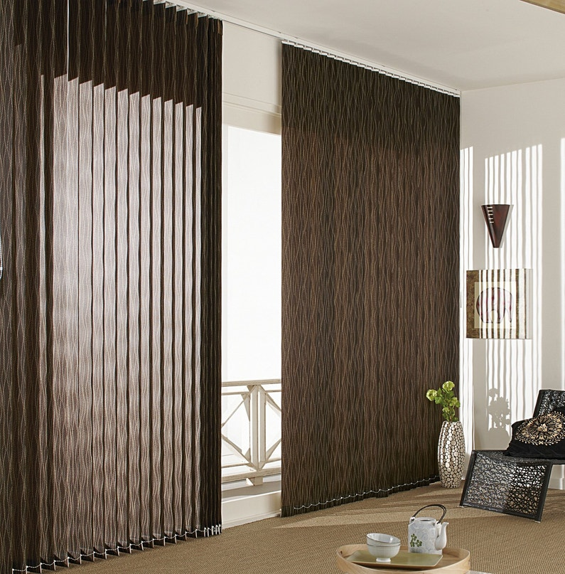 store int rieur lamelles verticales marron leroy merlin. Black Bedroom Furniture Sets. Home Design Ideas