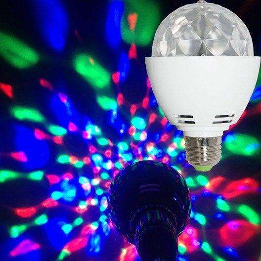 ampoule led disco changement de couleurs e27 360 leroy merlin. Black Bedroom Furniture Sets. Home Design Ideas