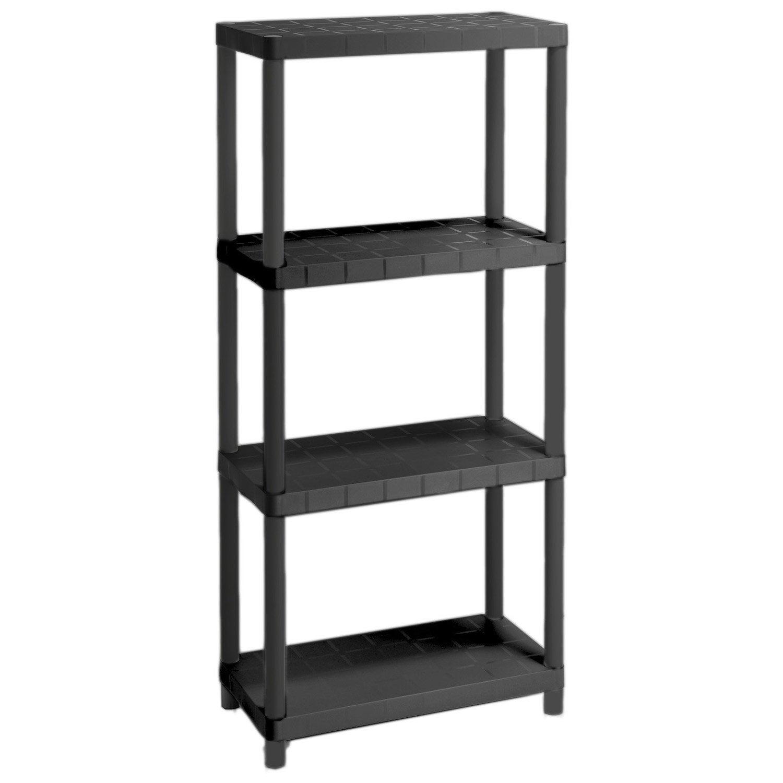 etag re r sine 4 tablettes noir x x cm leroy merlin. Black Bedroom Furniture Sets. Home Design Ideas