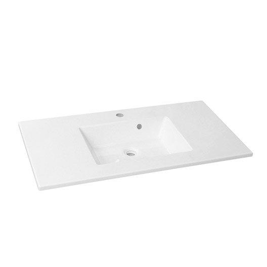 Plan vasque simple Modern Résine de synthèse 91 cm
