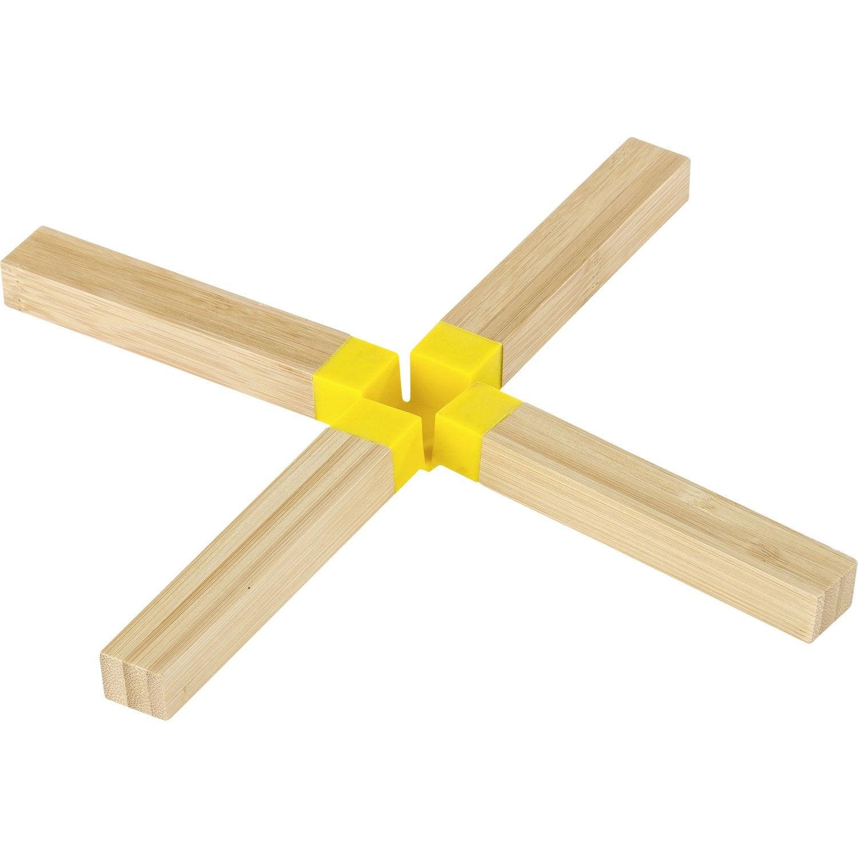 Dessous de plat en bambou pliable jaune anis n°4